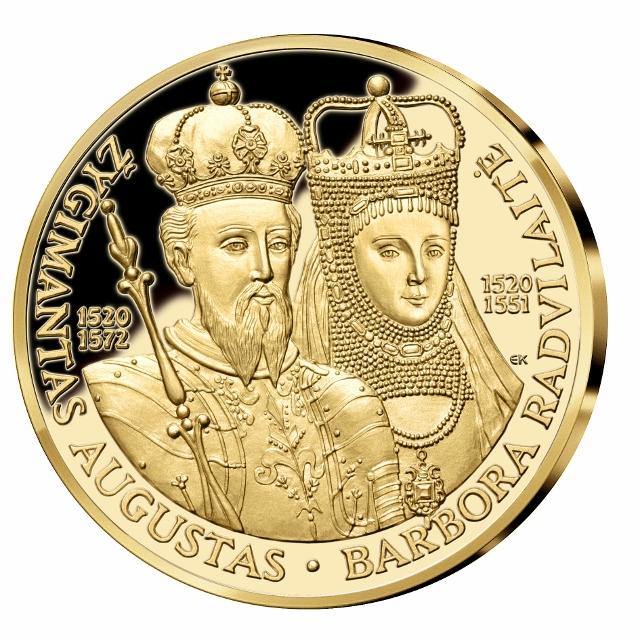 Barboros Radvilaitės ir Žygimanto Augusto moneta