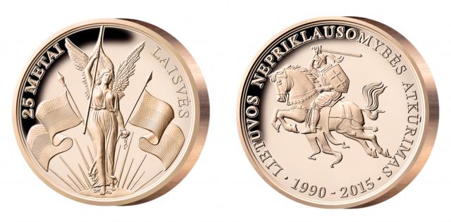 Dovana numizmatams – proginis medalis