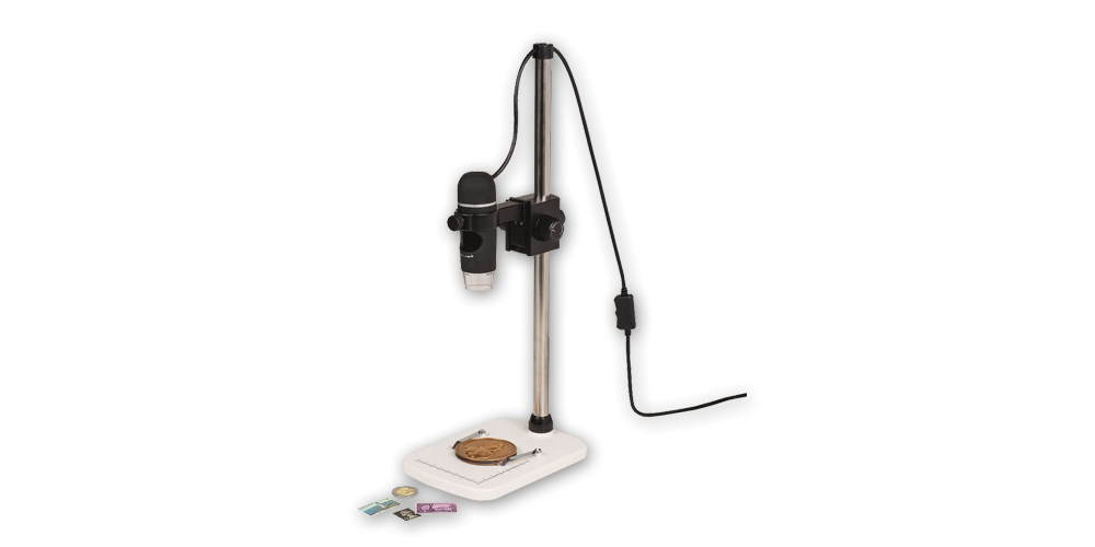 USB skaitmeninis mikroskopas su stovu
